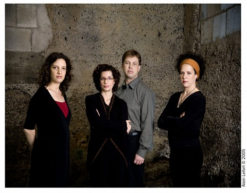 Quatuor Bozzini [Photo: Alain Lefort, 2005]