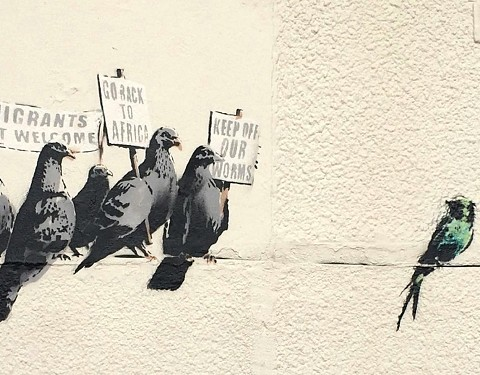 Drawing by Banksy
